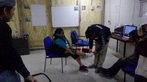Aula San Isidro da curso de primeros auxilios