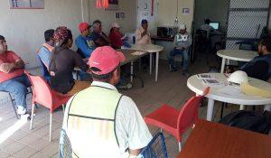 Realizamos junta con contratistas en Villas Tonanitla